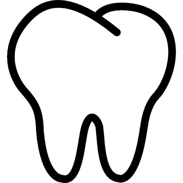 tooth clipart black and white #16