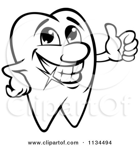 tooth clipart black and white - Clipground