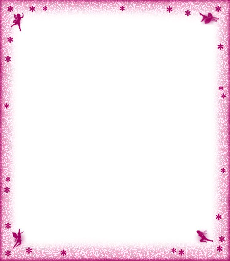 Printable Pink Fairies and Flowers Notepaper.