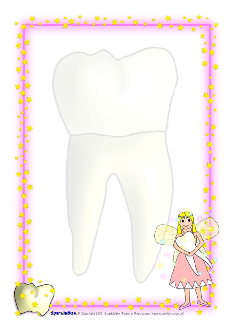 Tooth Fairy A4 Page Borders (SB1730).