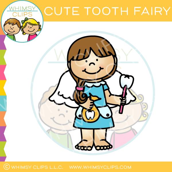 Cute Tooth Fairy Clip Art.
