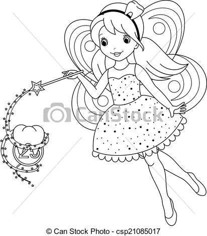 18+ Fairy Clipart Black And White.