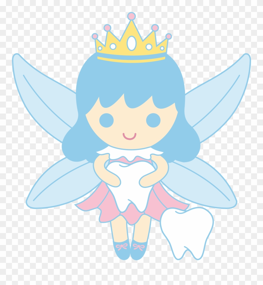 Cute Tooth Fairy Collecting Teeth Free Clip Art.