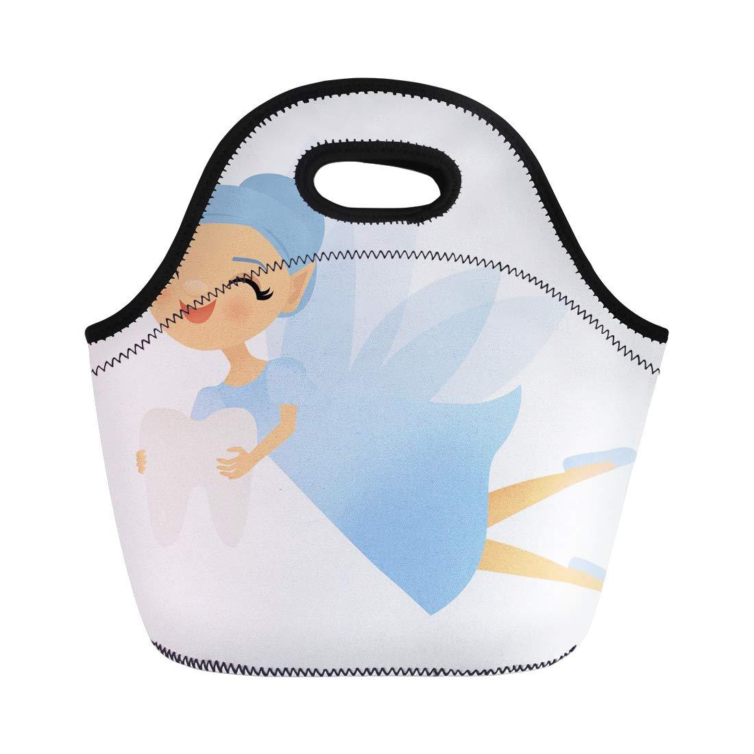 Amazon.com: Semtomn Lunch Tote Bag Cartoon Smiling Tooth.