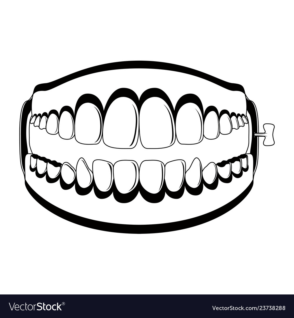 Funny teeth joke silhouette.