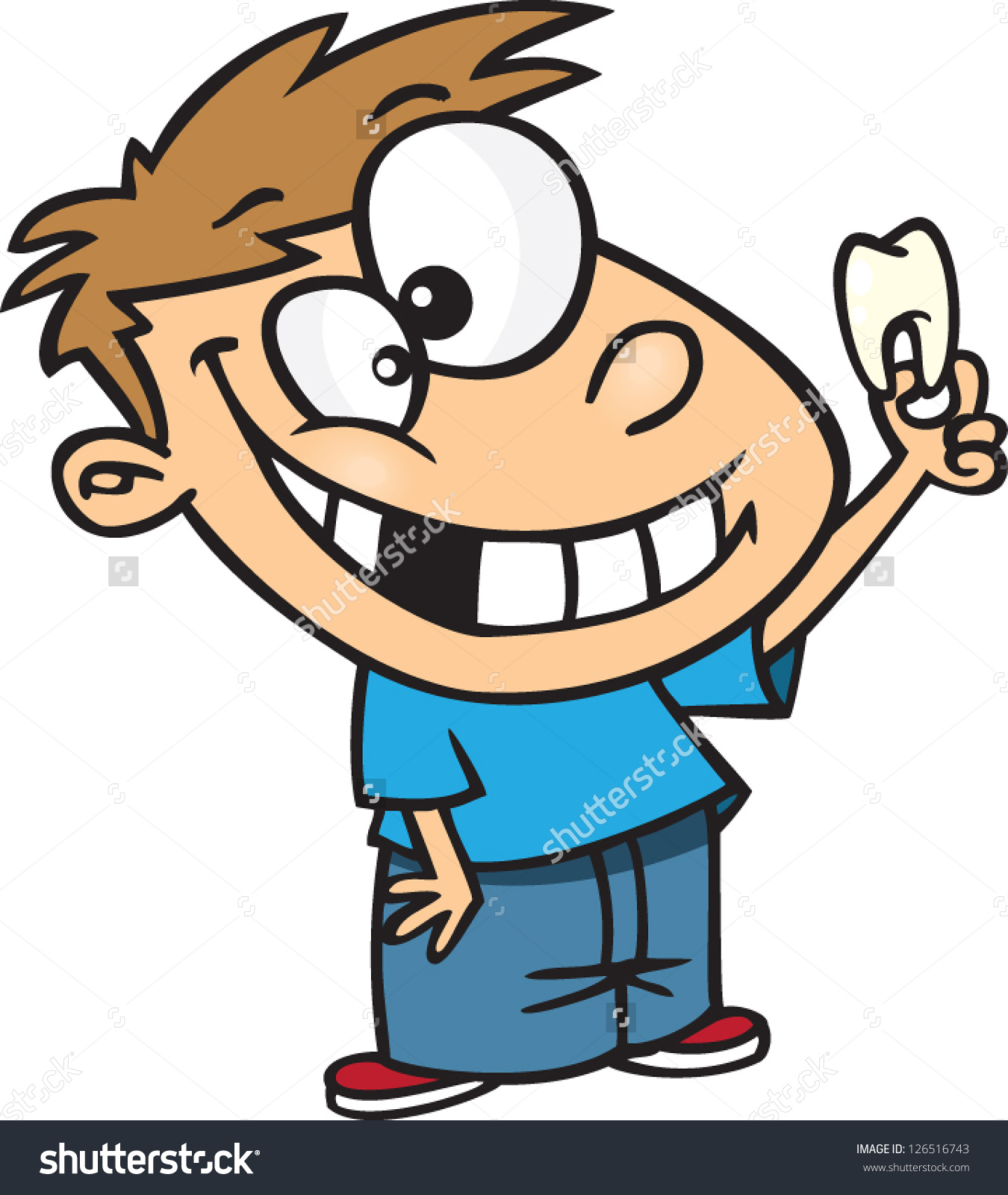 Losing a tooth clipart.