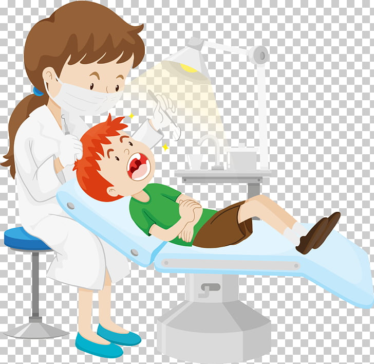 Dentistry , Make up the child, dentist extracting boys tooth.