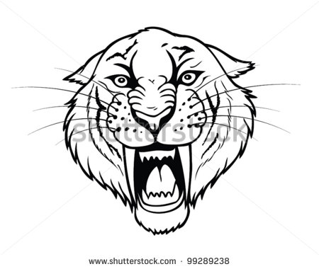 Saber tooth tiger clipart.