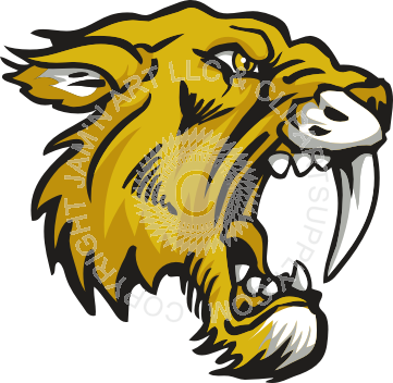 Saber Tooth Tiger Mascot.