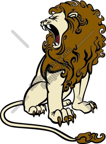 Lion Roaring Clipart.