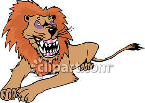 Lion Sharp Teeth Clipart.