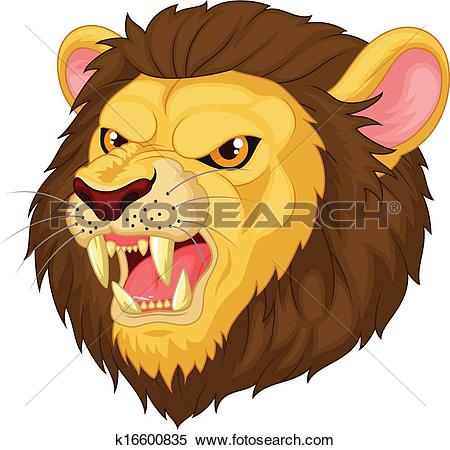 Stock Illustration of Cute tiger cartoon roaring k16763345.