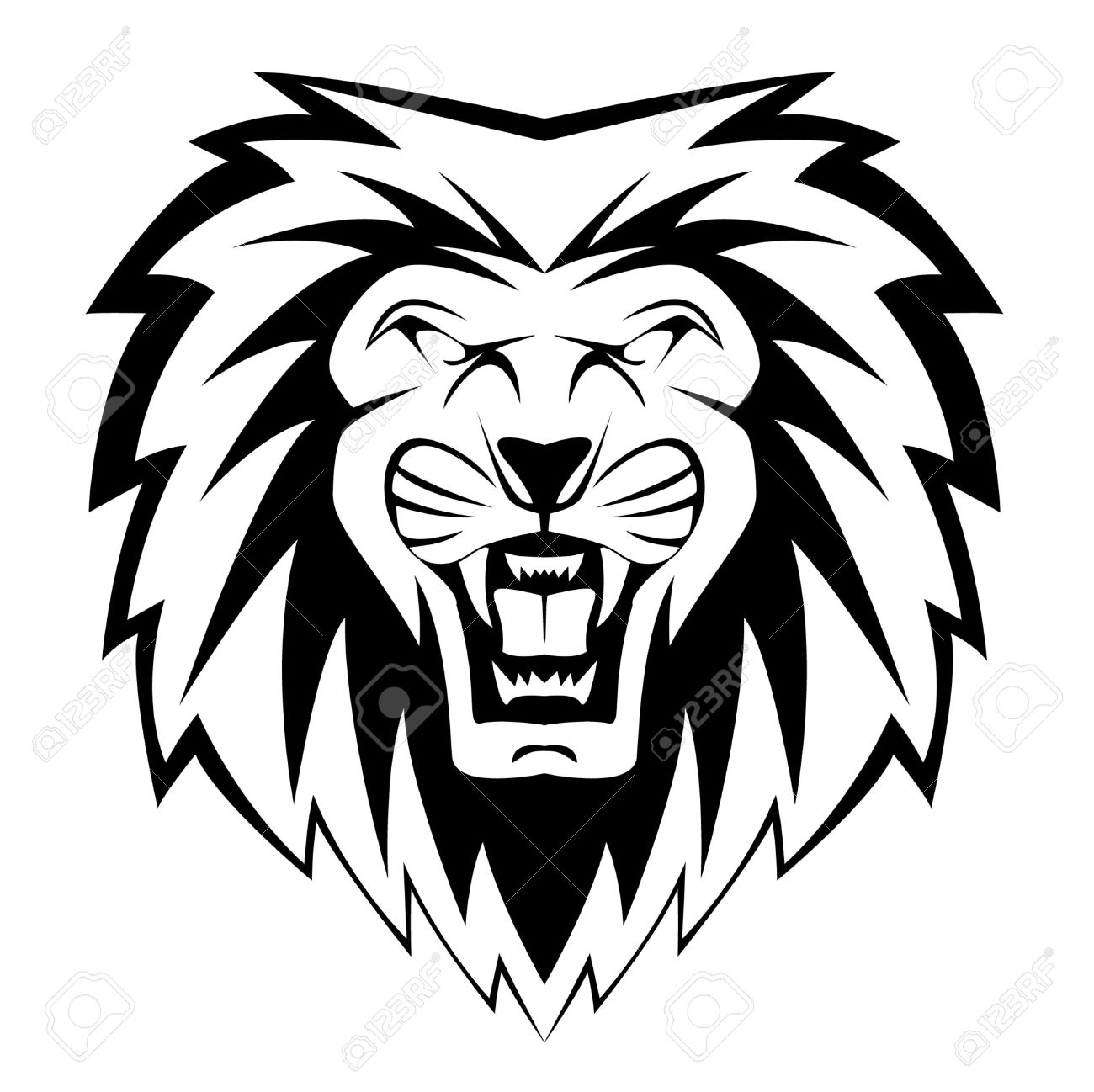 Lion Face Royalty Free Cliparts, Vectors, And Stock Illustration.