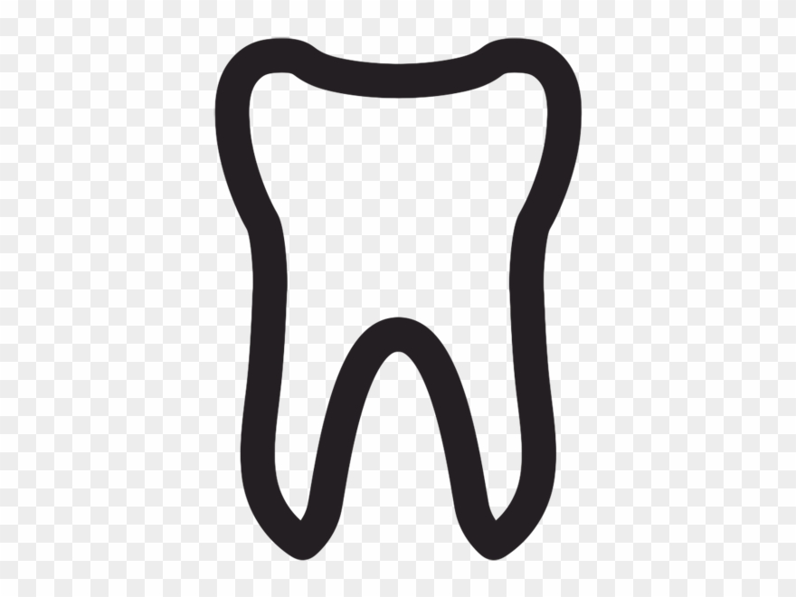 Tooth Outline Free Clipart.