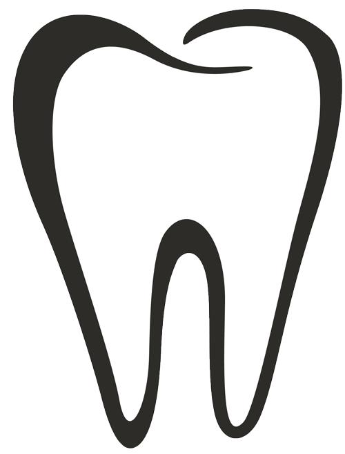 Dental clipart tooth outline, Dental tooth outline.