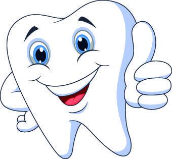amusing dental design elements vector.