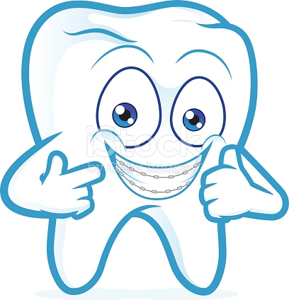 Tooth With Braces On Teeth stock vector art 587209898.