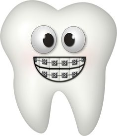 tooth clipart. brushing teeth.