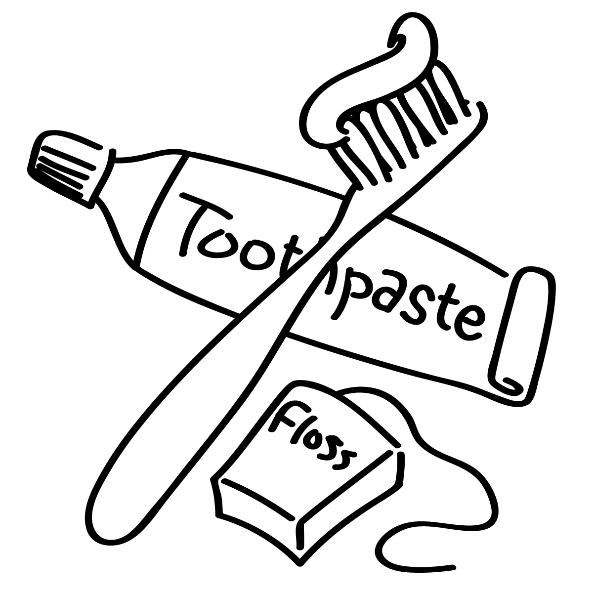Toothbrush dentist toothpaste clipart kid.
