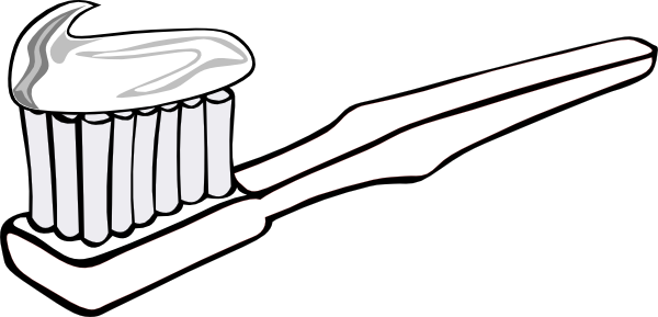 Toothbrush And Toothpaste Clipart.