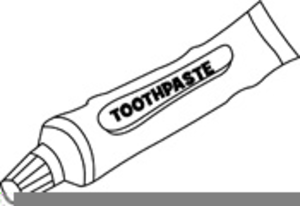 Toothbrush Clipart Black And White.