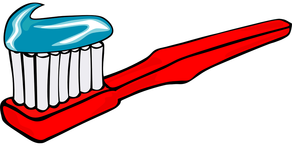Red Toothbrush Clipart transparent PNG.