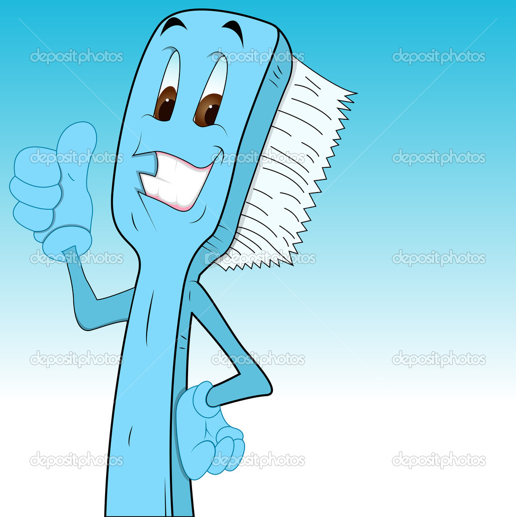 Cartoon Toothbrush Clip Art — Stock Vector © baavli #9787977.