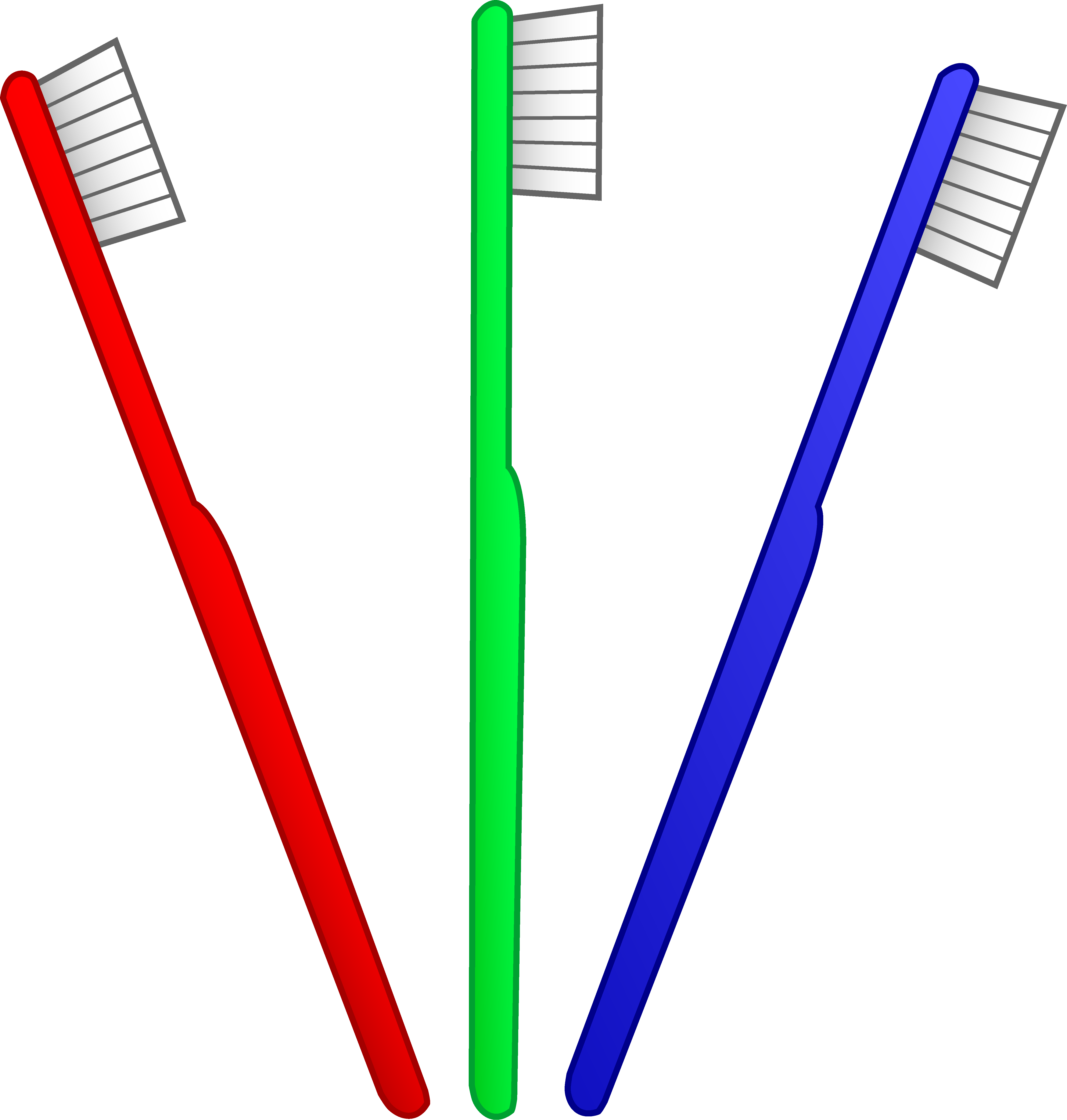 Three Toothbrushes.