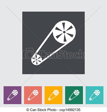 Vectors of Timing belt flat icon. Vector illustration. csp14992135.