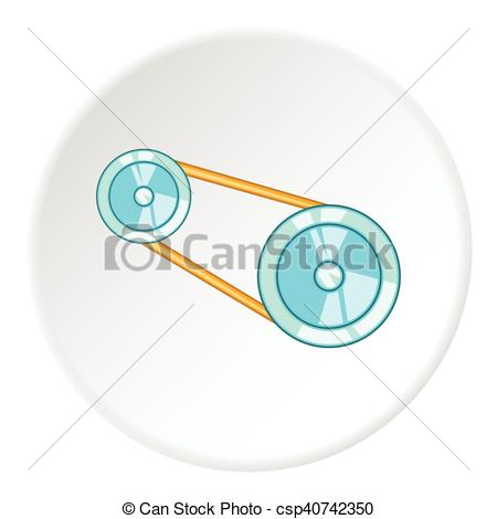 Clipart Vector of Timing belt icon, cartoon style.