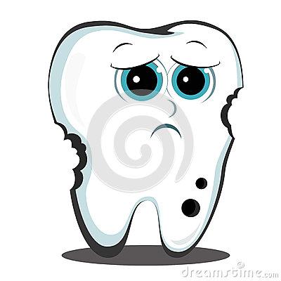 Cartoon Tooth Dental Cavity Stock Images.