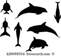 Toothed whales clipart #7