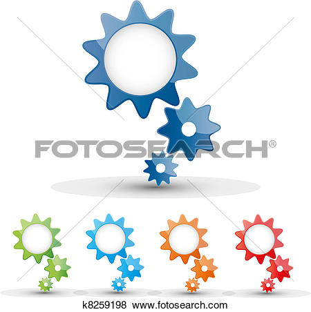 Clip Art of toothed wheels k8259198.