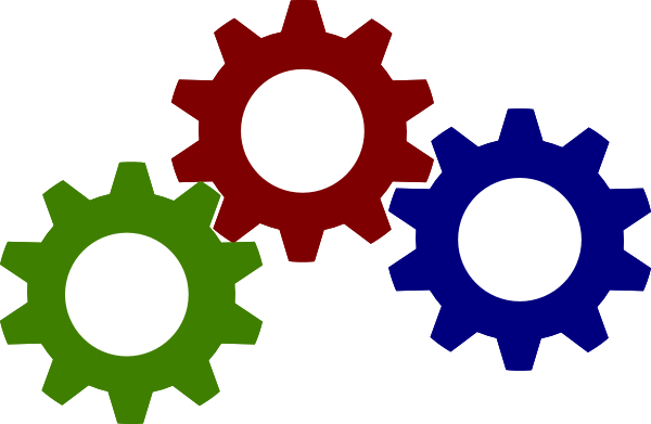 Colorful Gears Clipart.