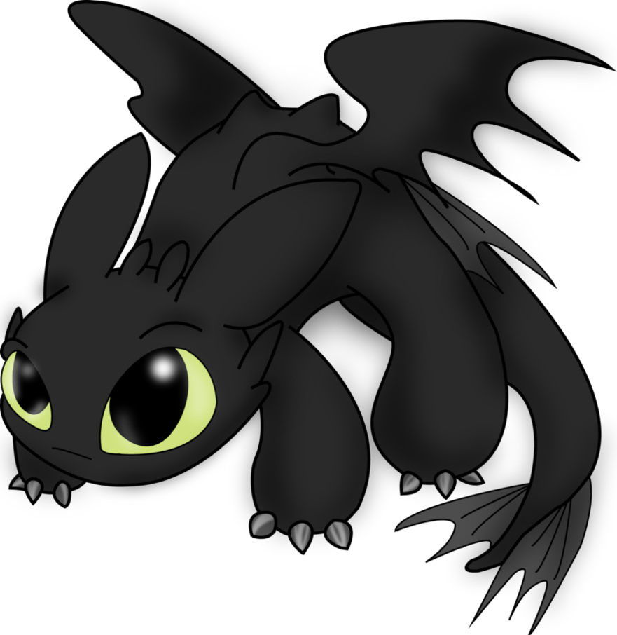 Toothless clipart cute.