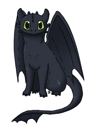 Toothless Dragon Clipart.