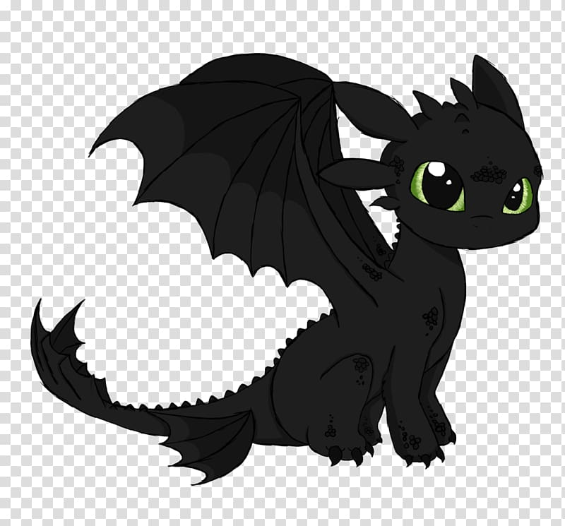 Toothless Drawing How to Train Your Dragon Black and white.