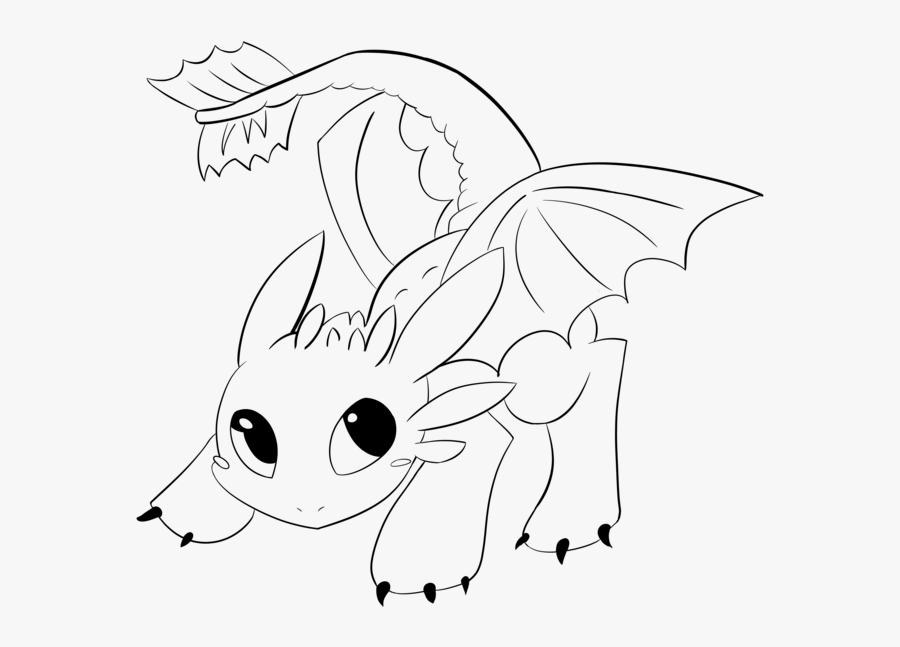 Toothless Lineart By Araly.