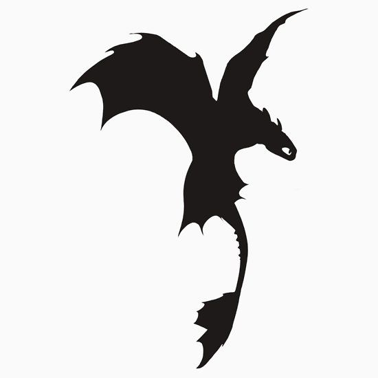 Toothless Silhouette.