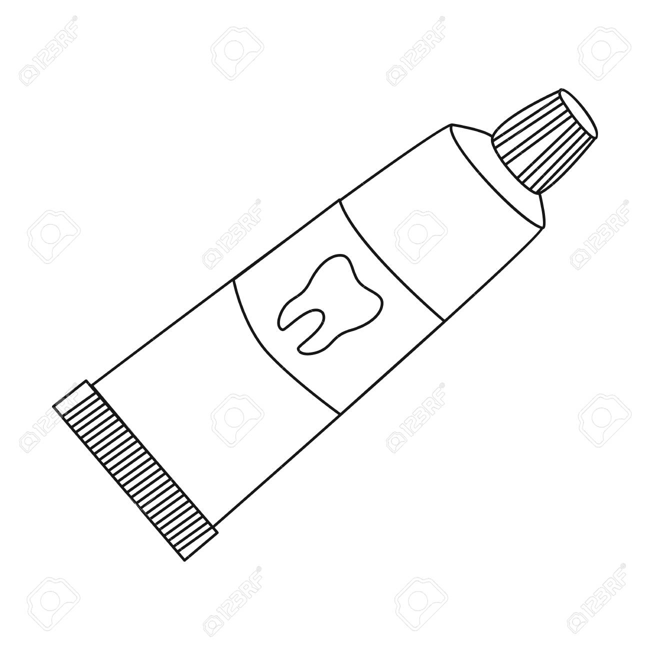 Toothpaste Clipart Black And White (93+ images in Collection.