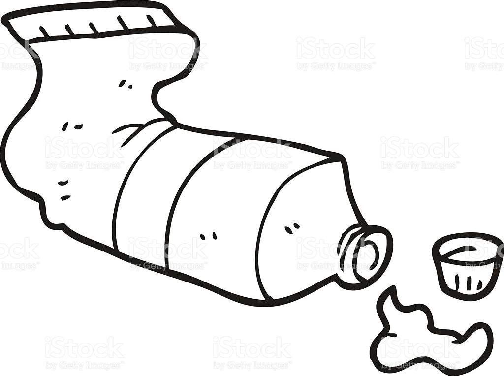 Toothpaste clipart black and white 5 » Clipart Station.