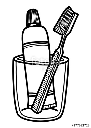 toothbrush and toothpaste / cartoon vector and illustration.