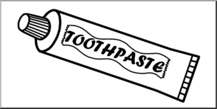 Toothpaste clipart black and white for free download and use.