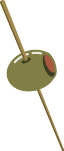 Olive On Toothpick Clip Art at Clker.com.