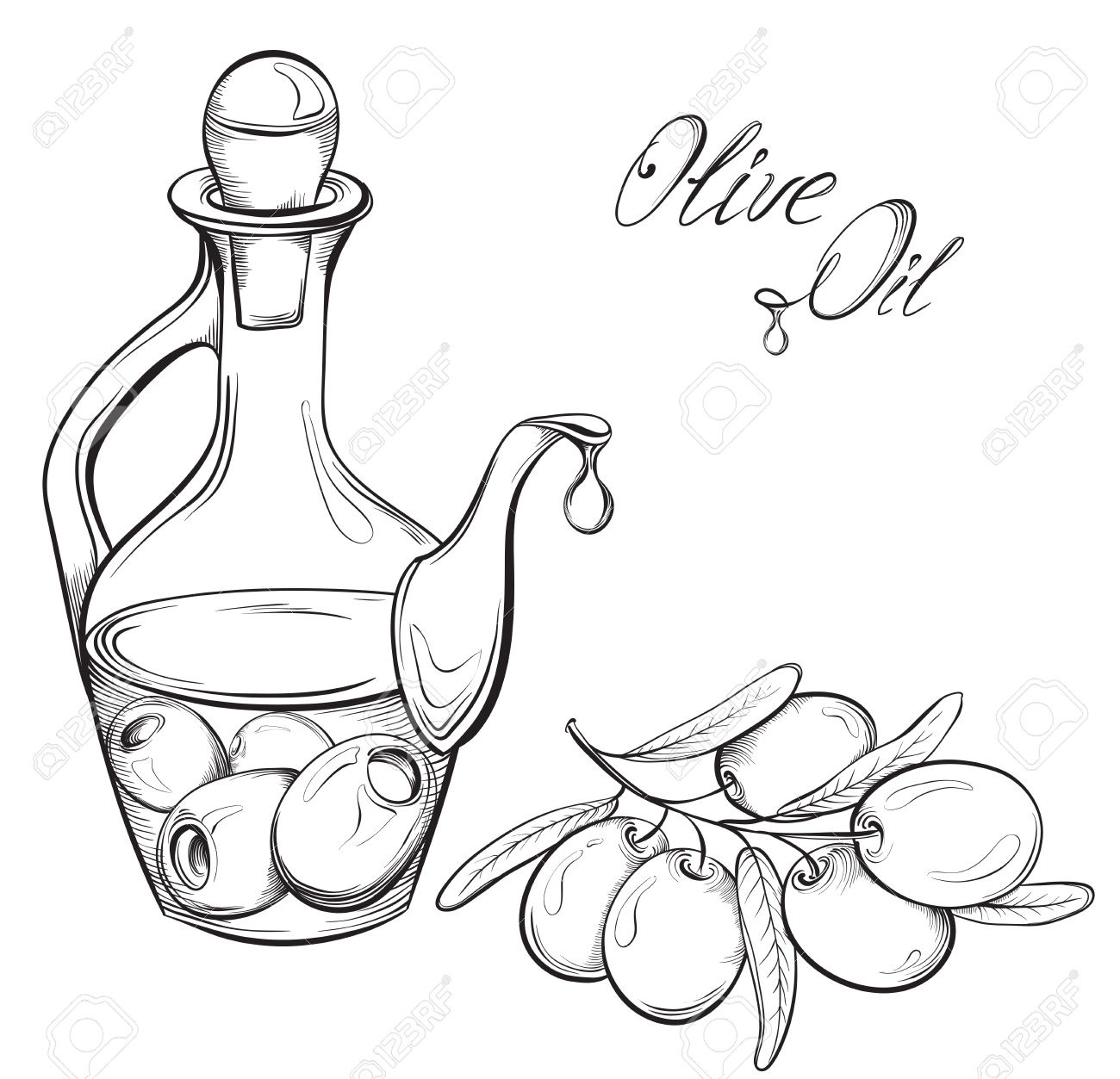 1453 Olive free clipart.