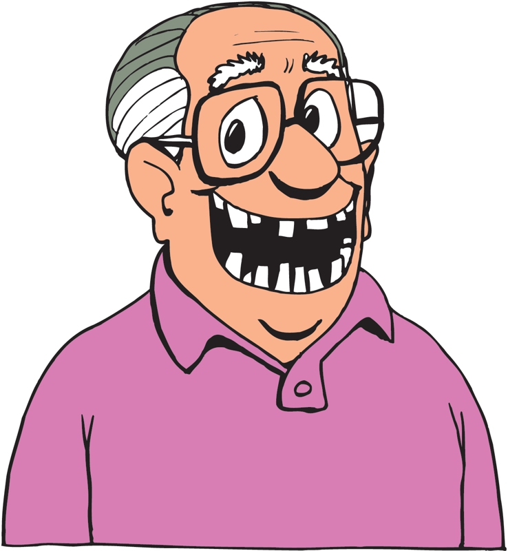 Big Toothy Grin Clip Art free image.