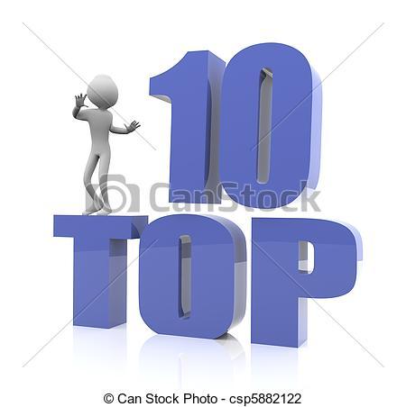 Clip Art of Top Ten.