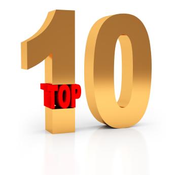 Top 10 List Clip Art.