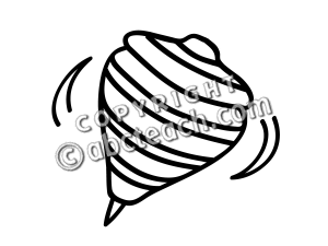 Clip Art: Basic Words: Top B&W.