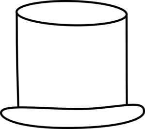 Top Hat Clipart Black And White.